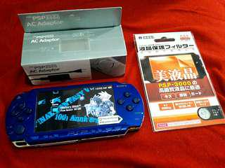 Blue PSP fat phat 8gb v6.60 Downloadable