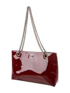 Chanel Burgundy Patent 2.55 Reissue Chain Tote