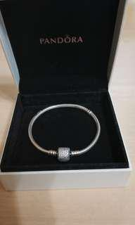 Pandora 925銀手鏈 Silver Bracelet with Clear Cubic Zirconia
