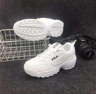 🚚 INSTOCK Women's White Platform Shoes / Sneakers