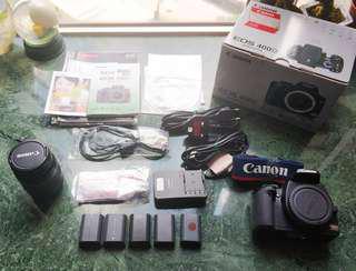 Canon 400D + 28-80 Len + 5 Batteries