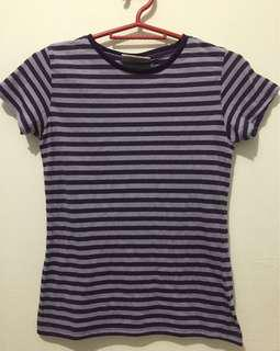 Striped Purple Kiddie Tee