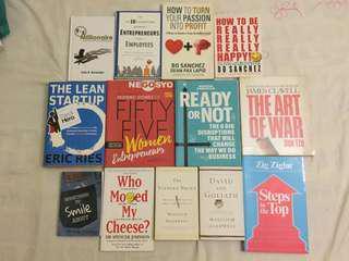 13-book bundle (business) plus 2 Entrepreneur magazines