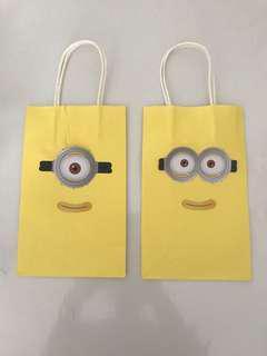 Minions paper bag/ goodie bag