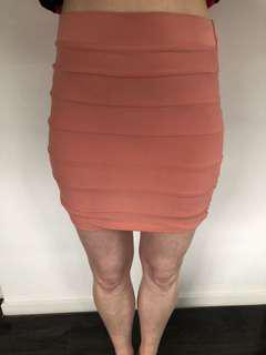 Kookai peach skirt size 2