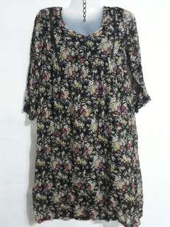 Boho flowered dress