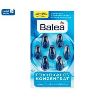 全新包郵 德國原裝 Balea 芭樂雅橄欖油海藻玻尿酸膠囊 7粒 Concentrate moisture  7 Capsules