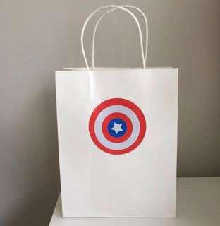 Captain America paper bag/ goodie bag