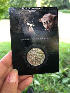 Harry Potter Authentic Coin Card