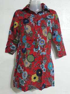 Boho flowered blouse