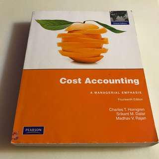 🚚 大學用書👩🏻🎓Cost Accounting: A Managerial Emphasis成本會計📉華泰 出版