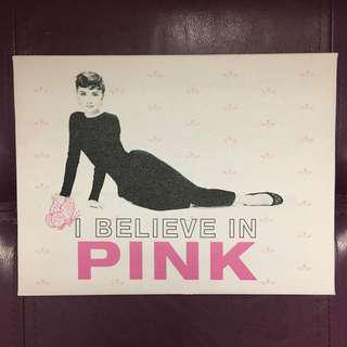 'I believe in pink' Audrey wall display frame