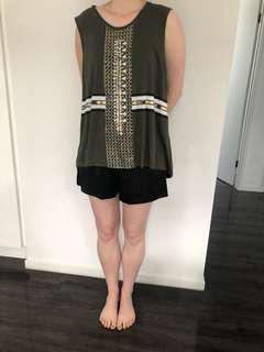 Sass and bide beaded tank