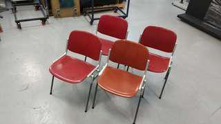 Used Chairs - Sturdy plastic & Aluminium legs: 4 units.