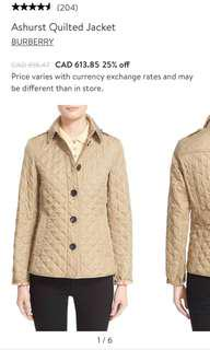 Burberry Ashurst quilted jacket xs