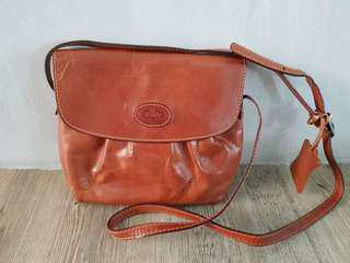 Authentic bonia leather vintage sling bag