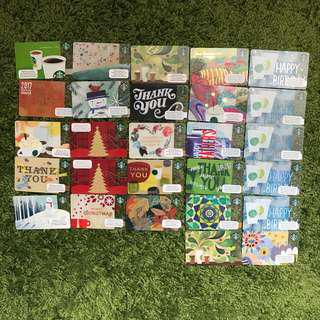 Starbucks cards for sales (no credit) RM10/each