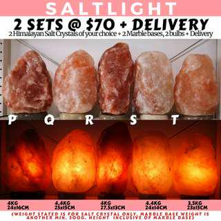 🚚 AUTHENTIC HIMALAYAN SALT CRYSTAL LAMPS | SOOTHING WARM GLOW