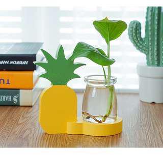 Pot: Wooden Pineapple Plant Holder