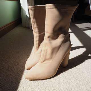 BooHoo Sock Healed Boots