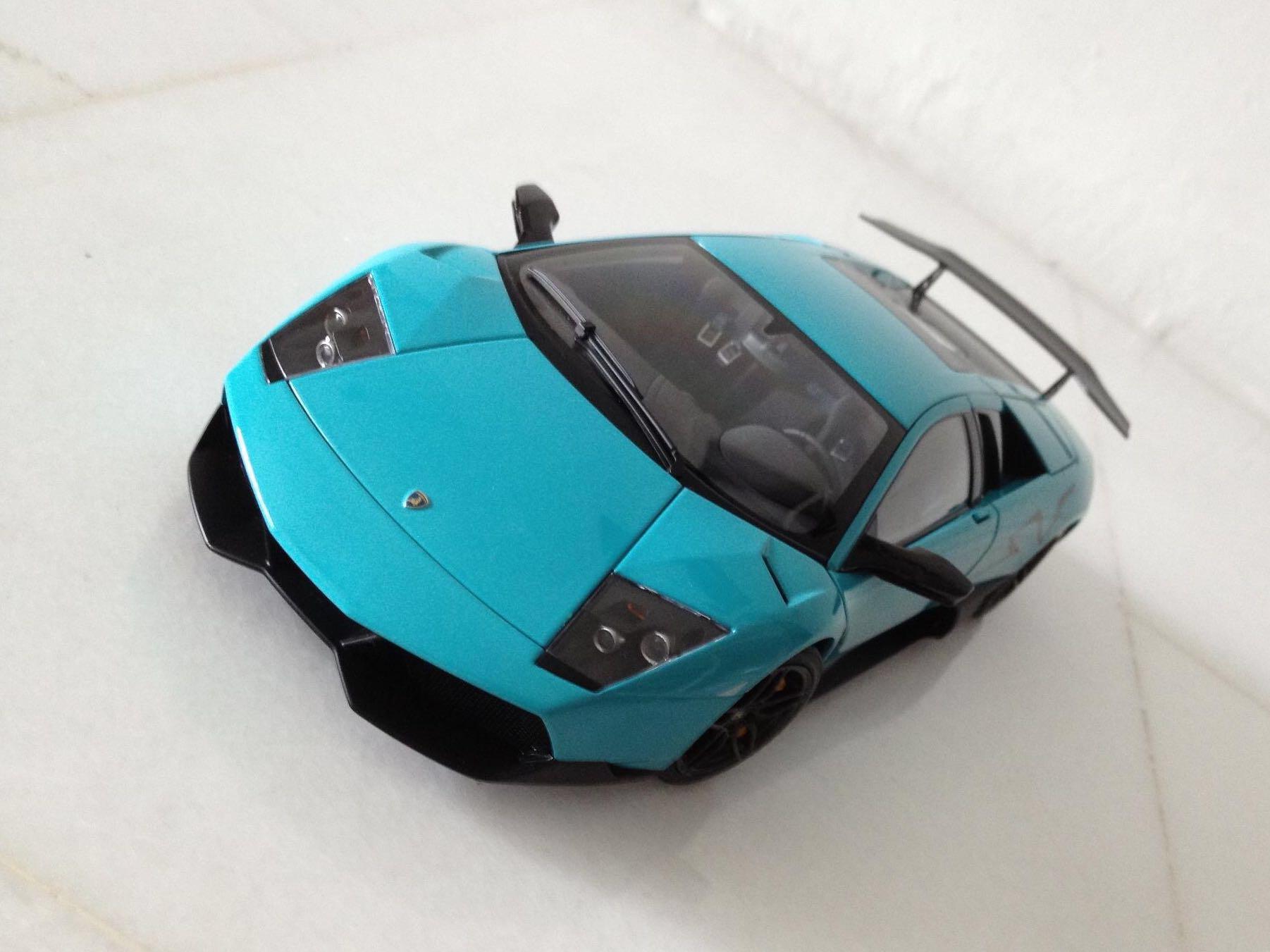 1 18 Autoart Lamborghini Murcielago Sv Turquoise Toys Games