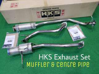 EXHAUST + CENTER PIPE HKS ORIGINAL