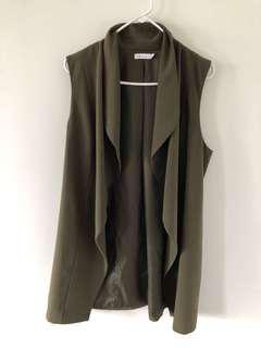 Long green vest