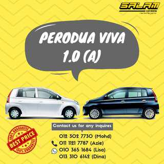 PERODUA VIVA 1.0 (A) FOR RENT!
