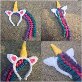 🦄Crochet Unicorn headband