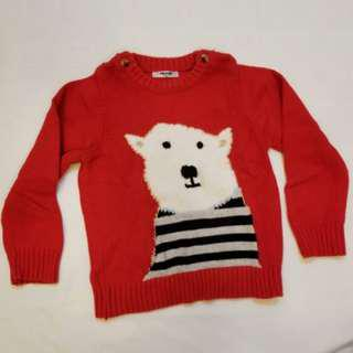 🍓Red knitted sweater polar bear 北極熊 冷衫