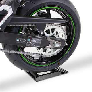 Motorcycle tyre spinner wheels chain maintenance board