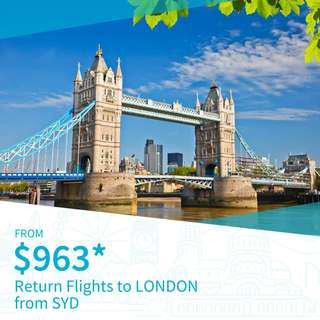 Cheap Return Flights to London