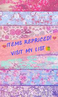 All Items REPRICED!💕 Visit My Profile!😘