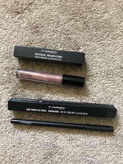 MAC Eyeliner and Lipgloss