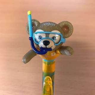 包郵 Disney Duffy character ball pen (black) 迪士尼 黑色原子筆 樂團直送 free shipping