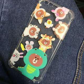 iPhone 6 6s Case line friends brown cony