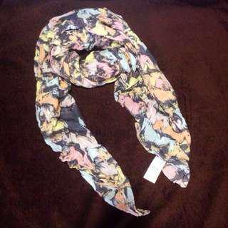 🐎粉色圖案方巾