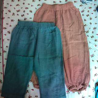 UNISEX Long Pants PRICE FOR TWO PCS; YEAR 3 to 4
