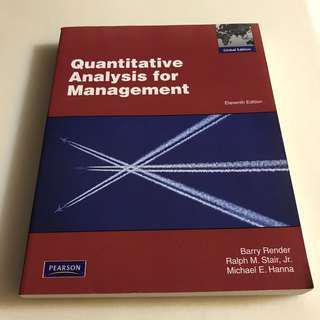 🚚 大學用書👩🏻🎓Quantitative Analysis for Management數量分析管理📊華泰 出版