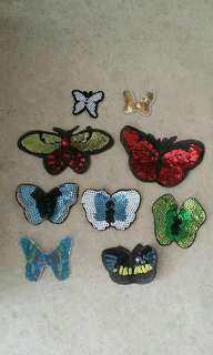 Sew on sequins patch - Butterfly