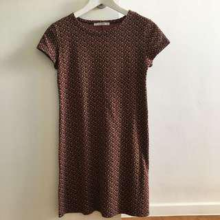Pull & Bear Printed Vintage Shift Dress