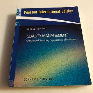 🚚 👩🏻‍🎓大學用書👩🏻‍🎓QUALITY MANAGEMENT質量管理📈PEARSON 出版