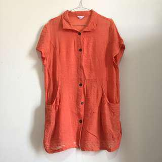 washed colar blouse