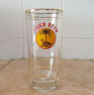 Antique tiger beer glass cup