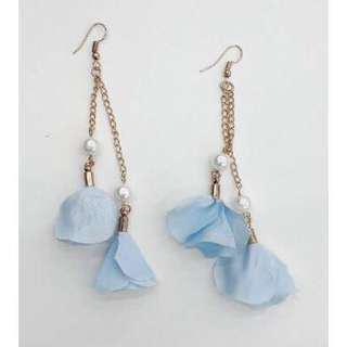 Flower Petal + Pearl Drop Earrings