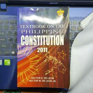 Textbook on the Philippine Constitution 2011