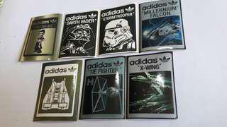 Limited edition adidas x Starwars collectible stickers set 1