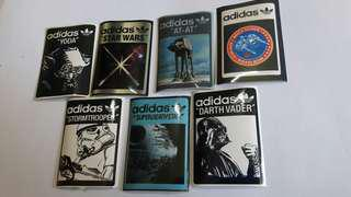 Limited edition adidas x Starwars collectible stickers set 2