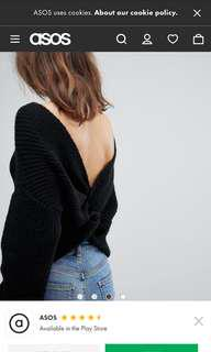ASOS Twist Back Sweater Size 8