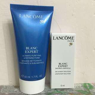 Lancome 一套2件 全方位瞬白亮肌潔面泡沫 Blanc Expert Purifying Foam Day & Night Solution